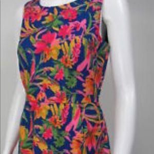 J Crew size 14 cotton printed dress